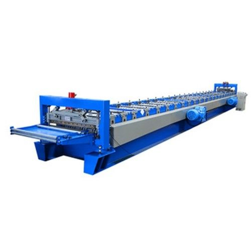 Automatic Metal Floor Deck Roll Forming Machine 1200mm Feeding Material Width