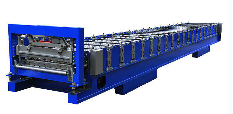 Hot Rolled Steel Full Auto Corrugated Roof Making Machine 0.3-0.8mm thickness High Speed