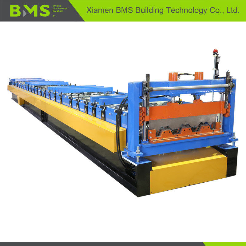 Dovetail Style Metal Floor Decking Roll Making Machine For Construction PLC Control