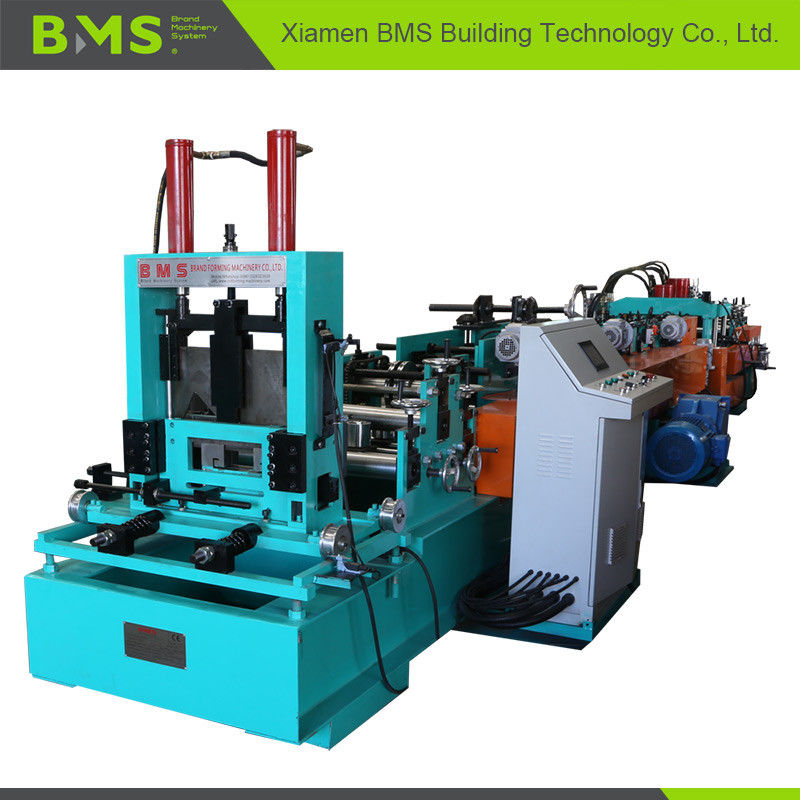 Auto C Purlin Forming Machine For Galvanized Sheet / Cold Hot Roll Steel Material