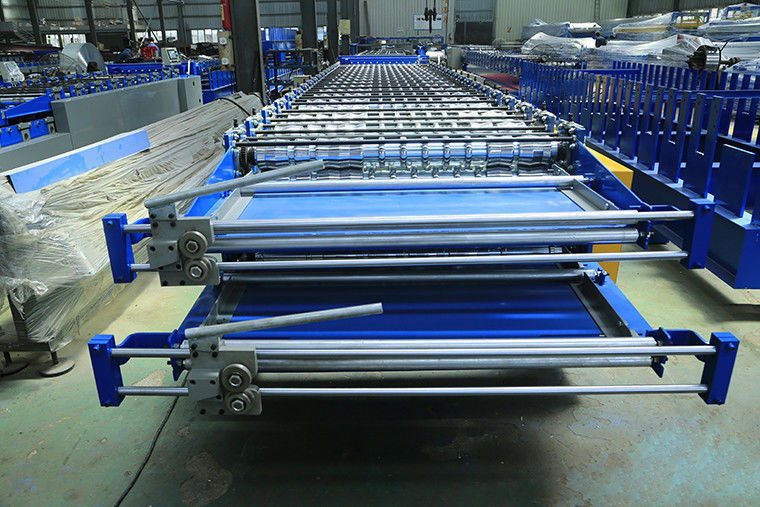 Two Layer Roofing Sheet Roll Forming Machine , Metal Roofing Roll Former