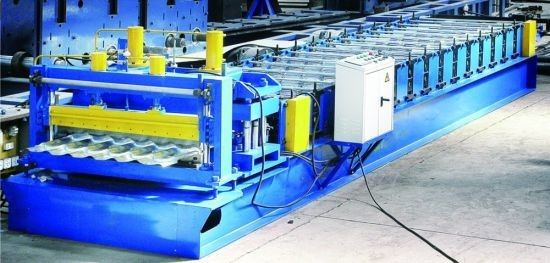 Fully Automatic Glazed Roof Tile Roll Forming Machine Russian Popular Model