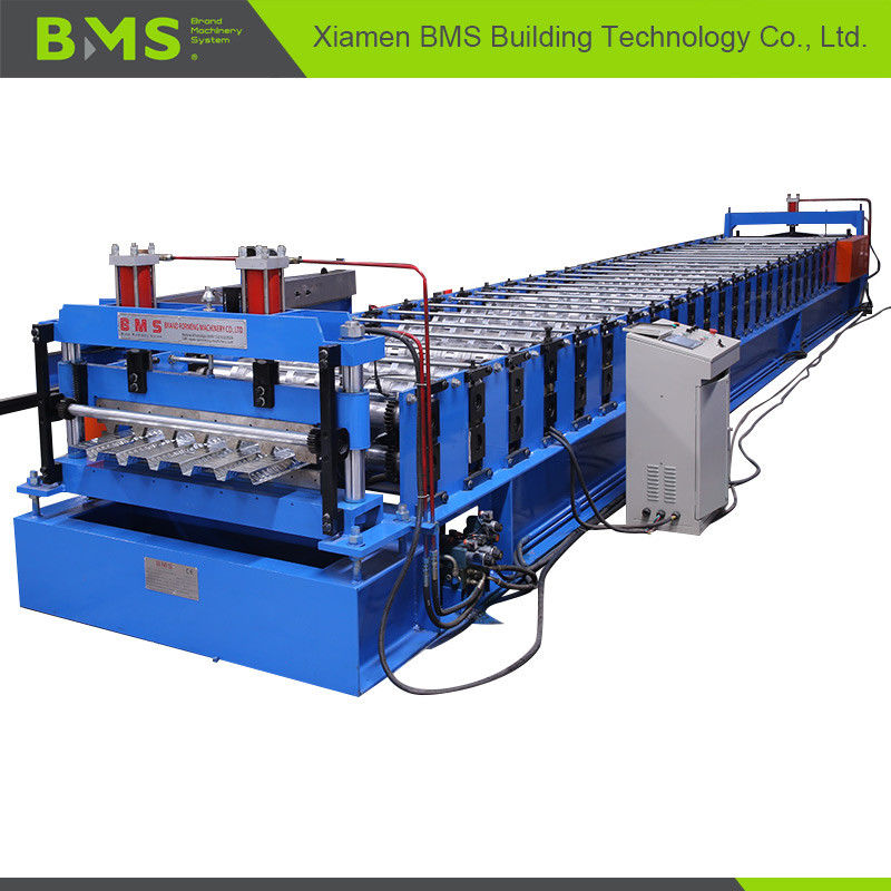 ISO9001 CE SGS Metal Deck Forming Machine , Floor Tile Making Machine 5.5kw+3kw