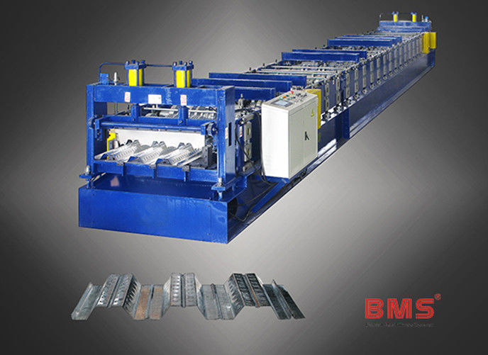 Q235 Color Steel Floor Deck Roll Forming Machine With Hydraulic Cutting System