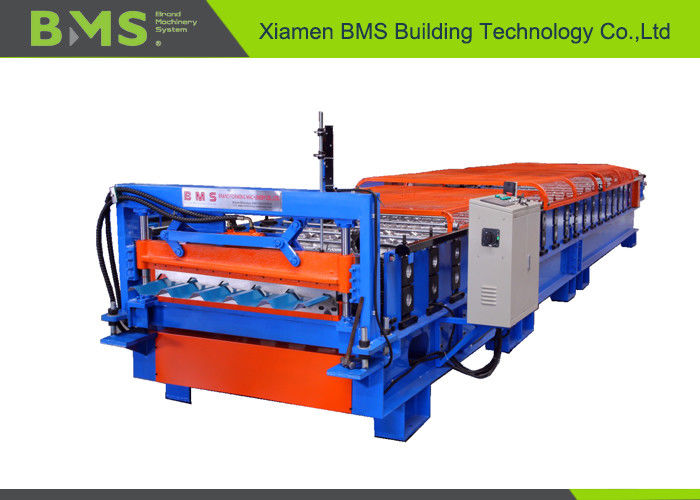 29-190-760MM Kirby Style Roof Panel Roll Forming Machine With CE / SGS Certificate